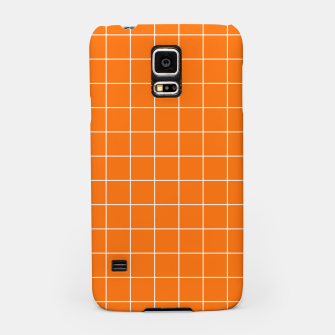 Thumbnail image of Vibrant grid on orange Samsung Case, Live Heroes