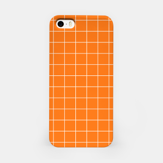 Thumbnail image of Vibrant grid on orange iPhone Case, Live Heroes