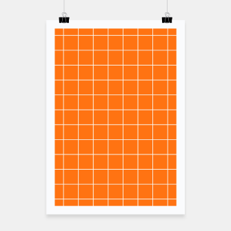 Thumbnail image of Vibrant grid on orange Poster, Live Heroes