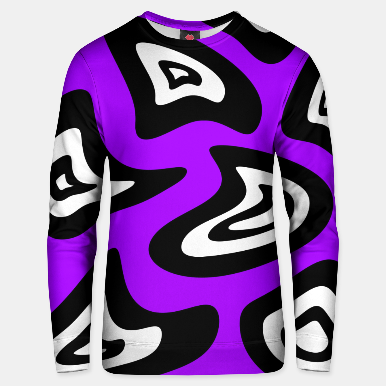 Image of Abstract pattern - purple, black and white. Unisex sweater - Live Heroes