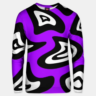 Miniatur Abstract pattern - purple, black and white. Unisex sweater, Live Heroes