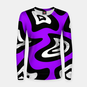 Miniatur Abstract pattern - purple, black and white. Women sweater, Live Heroes