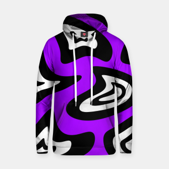 Miniatur Abstract pattern - purple, black and white. Hoodie, Live Heroes