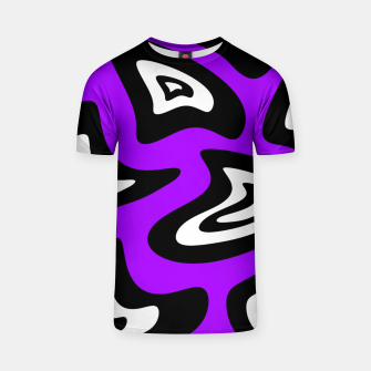 Miniatur Abstract pattern - purple, black and white. T-shirt, Live Heroes