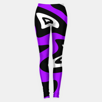 Miniatur Abstract pattern - purple, black and white. Leggings, Live Heroes
