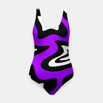 Miniatur Abstract pattern - purple, black and white. Swimsuit, Live Heroes