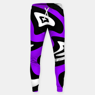 Miniatur Abstract pattern - purple, black and white. Sweatpants, Live Heroes
