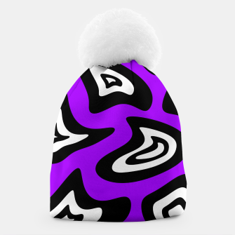 Miniatur Abstract pattern - purple, black and white. Beanie, Live Heroes
