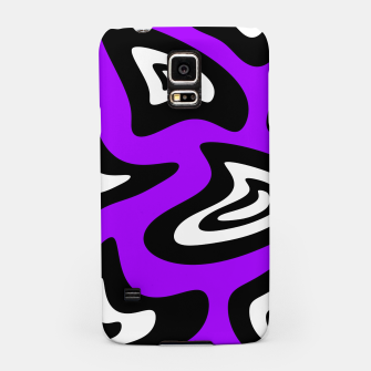 Miniatur Abstract pattern - purple, black and white. Samsung Case, Live Heroes