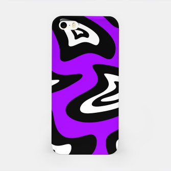 Miniatur Abstract pattern - purple, black and white. iPhone Case, Live Heroes