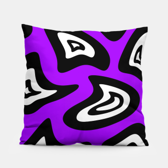 Miniatur Abstract pattern - purple, black and white. Pillow, Live Heroes
