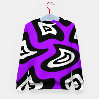 Miniatur Abstract pattern - purple, black and white. Kid's sweater, Live Heroes