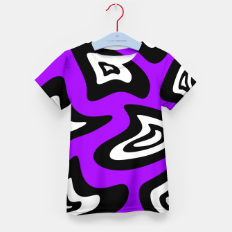 Miniatur Abstract pattern - purple, black and white. Kid's t-shirt, Live Heroes