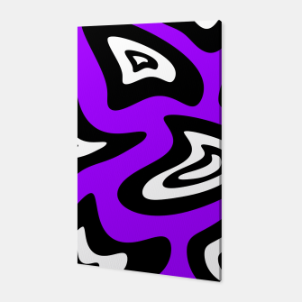 Miniatur Abstract pattern - purple, black and white. Canvas, Live Heroes