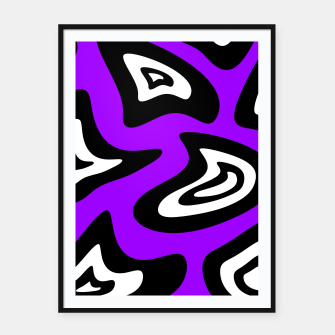 Miniatur Abstract pattern - purple, black and white. Framed poster, Live Heroes