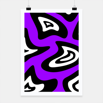 Miniatur Abstract pattern - purple, black and white. Poster, Live Heroes