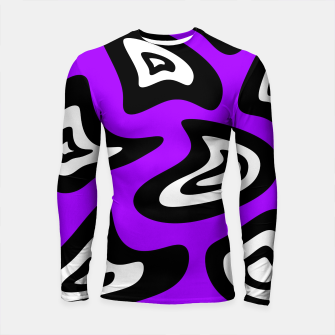 Thumbnail image of Abstract pattern - purple, black and white. Longsleeve rashguard , Live Heroes