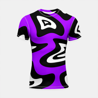 Miniatur Abstract pattern - purple, black and white. Shortsleeve rashguard, Live Heroes