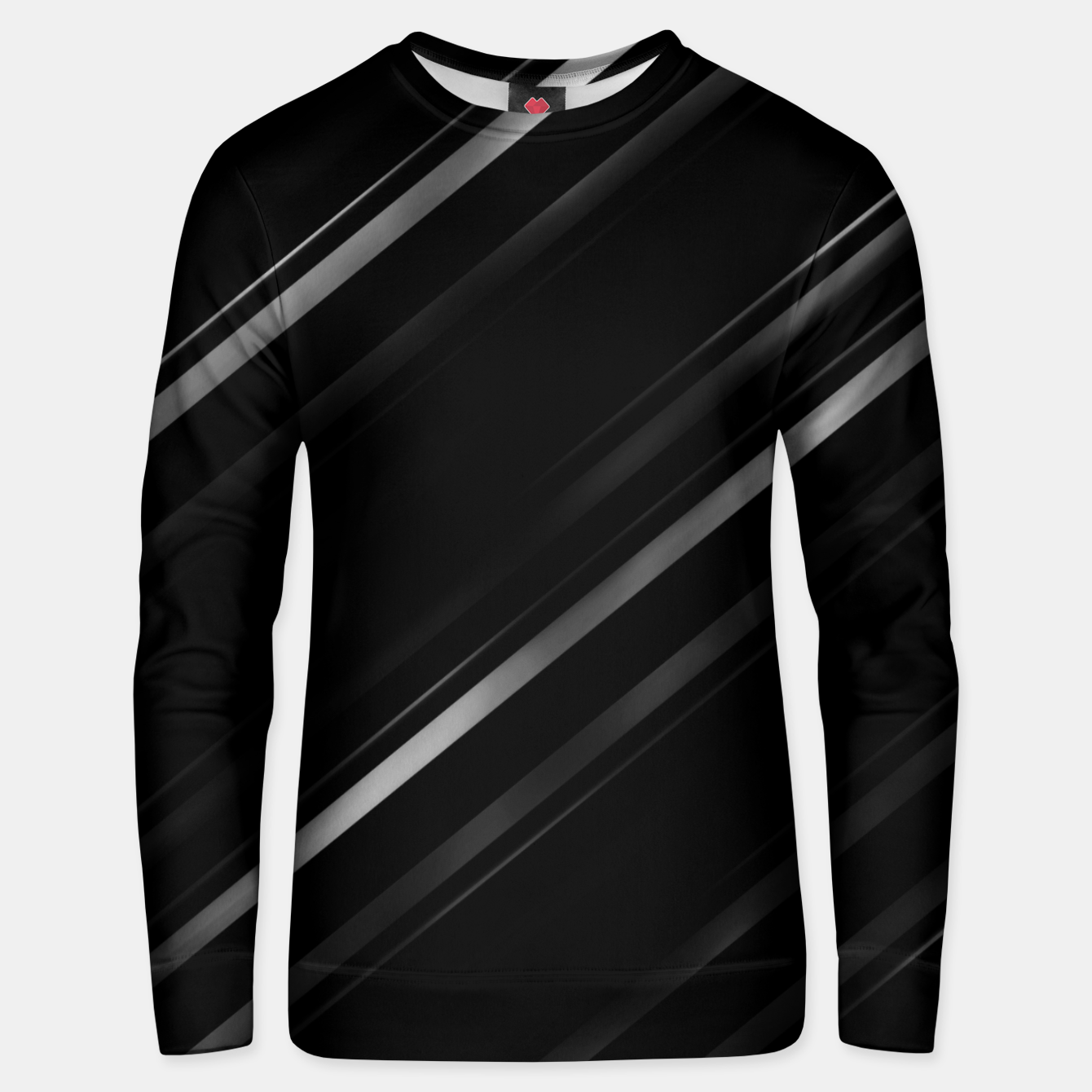 Image of Minimalist Black Linear Abstract Print Unisex sweater - Live Heroes
