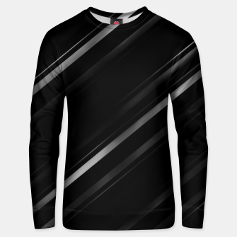 Thumbnail image of Minimalist Black Linear Abstract Print Unisex sweater, Live Heroes