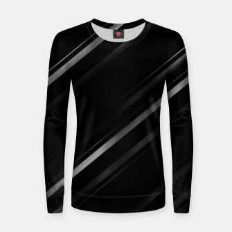 Thumbnail image of Minimalist Black Linear Abstract Print Women sweater, Live Heroes