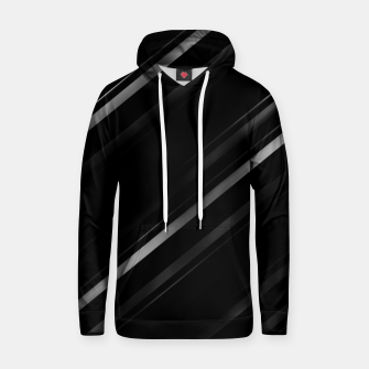 Thumbnail image of Minimalist Black Linear Abstract Print Hoodie, Live Heroes