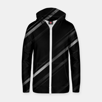 Thumbnail image of Minimalist Black Linear Abstract Print Zip up hoodie, Live Heroes