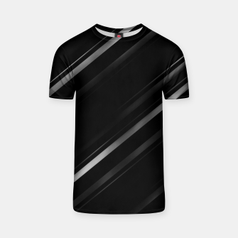 Thumbnail image of Minimalist Black Linear Abstract Print T-shirt, Live Heroes