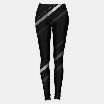 Thumbnail image of Minimalist Black Linear Abstract Print Leggings, Live Heroes
