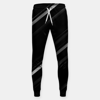 Thumbnail image of Minimalist Black Linear Abstract Print Sweatpants, Live Heroes