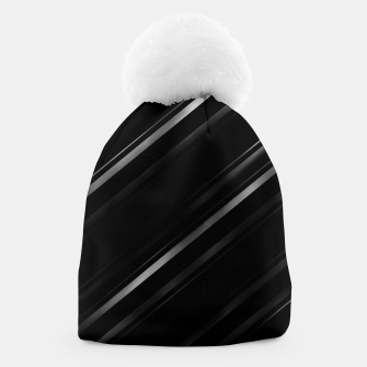 Thumbnail image of Minimalist Black Linear Abstract Print Beanie, Live Heroes