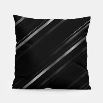 Thumbnail image of Minimalist Black Linear Abstract Print Pillow, Live Heroes