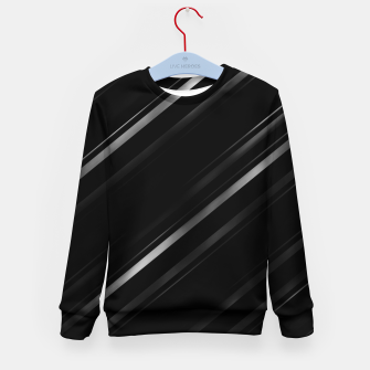 Thumbnail image of Minimalist Black Linear Abstract Print Kid's sweater, Live Heroes