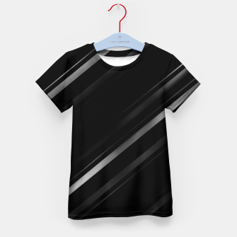 Thumbnail image of Minimalist Black Linear Abstract Print Kid's t-shirt, Live Heroes