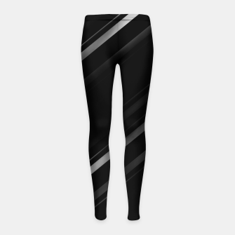 Thumbnail image of Minimalist Black Linear Abstract Print Girl's leggings, Live Heroes