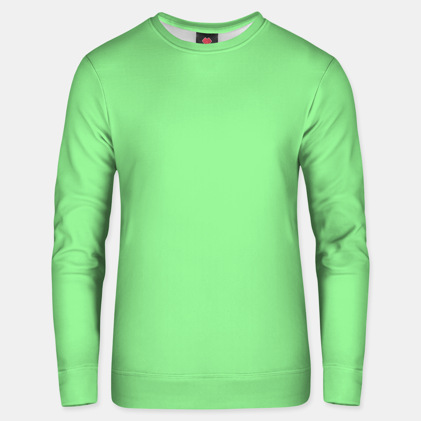 Image of color light green Unisex sweater - Live Heroes