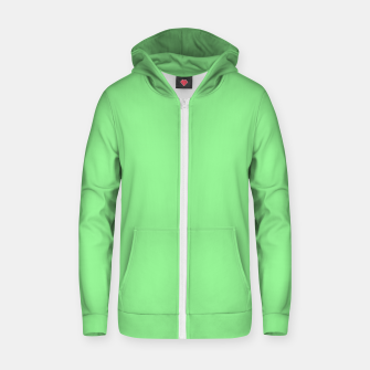 color light green Zip up hoodie thumbnail image