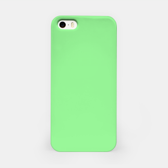 color light green iPhone Case thumbnail image