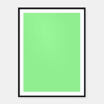 color light green Framed poster thumbnail image