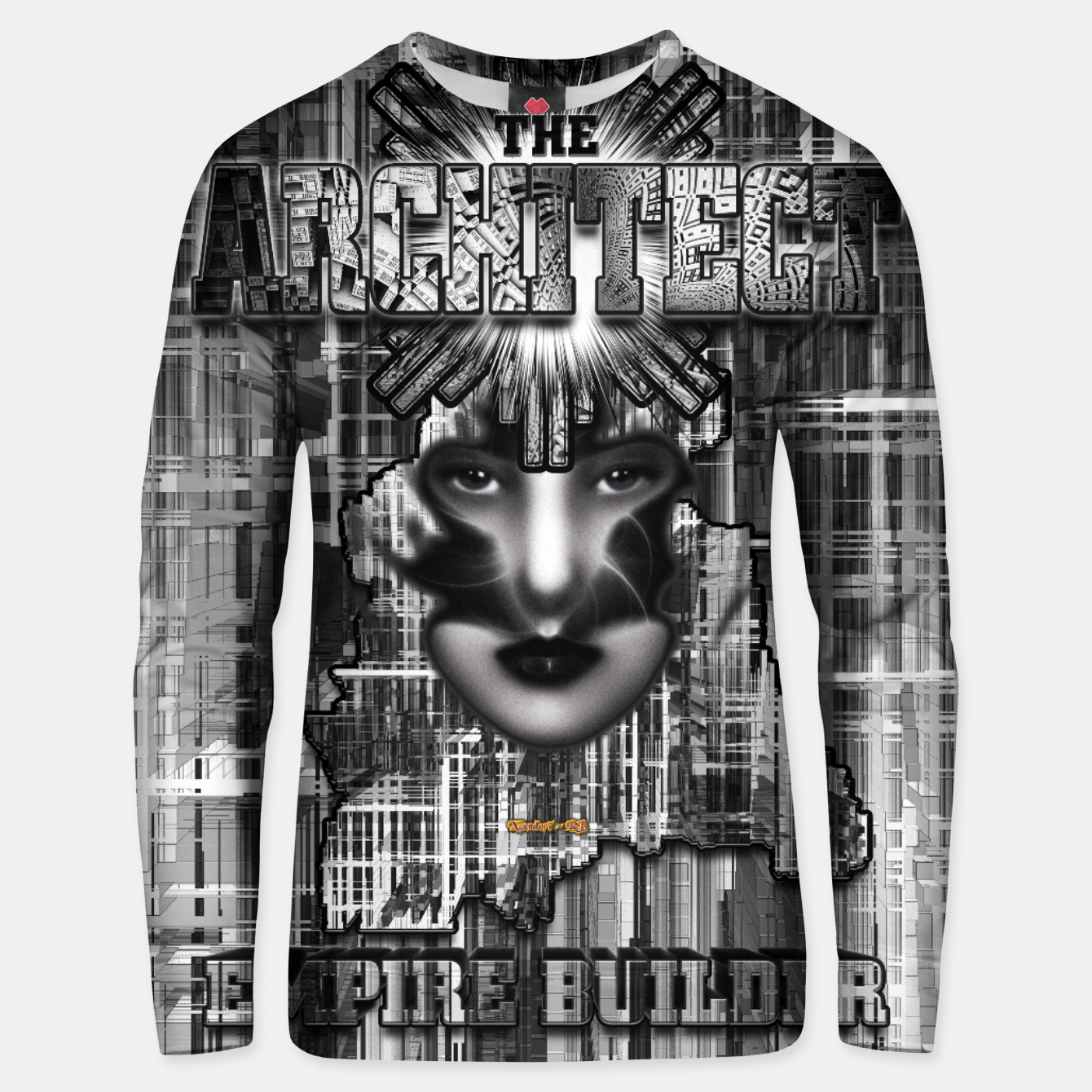 Image of The Architect - Empire Builder Abstract Digital Architecture Art Unisex sweater - Live Heroes