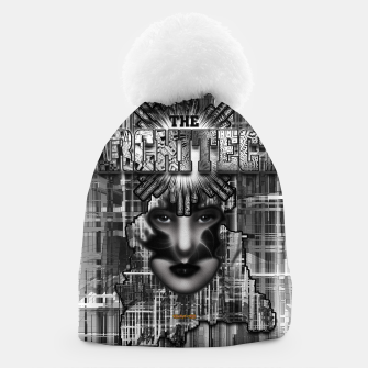 Thumbnail image of The Architect - Empire Builder Abstract Digital Architecture Art Beanie, Live Heroes
