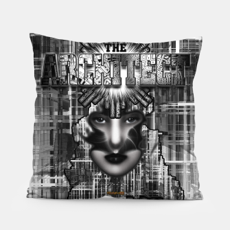 Thumbnail image of The Architect - Empire Builder Abstract Digital Architecture Art Pillow, Live Heroes