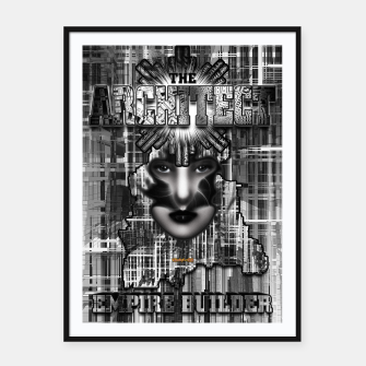 Thumbnail image of The Architect - Empire Builder Abstract Digital Architecture Art Framed poster, Live Heroes