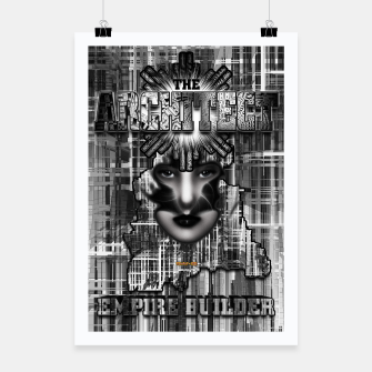 Thumbnail image of The Architect - Empire Builder Abstract Digital Architecture Art Poster, Live Heroes