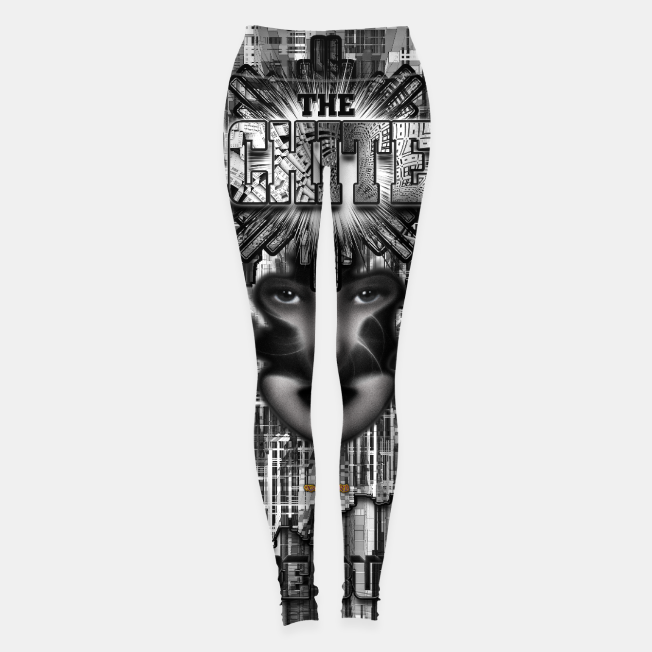 Image of The Architect - Empire Builder Abstract Digital Architecture Art Leggings - Live Heroes