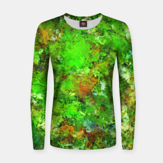 Slippery green rocks Women sweater thumbnail image