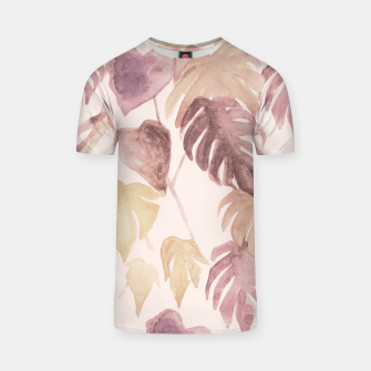 Thumbnail image of Retro blush watercolor botanicals T-shirt, Live Heroes