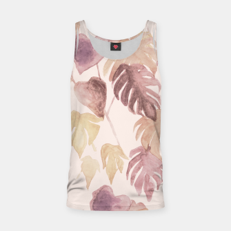 Thumbnail image of Retro blush watercolor botanicals Tank Top, Live Heroes