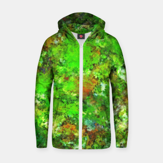 Slippery green rocks Zip up hoodie thumbnail image