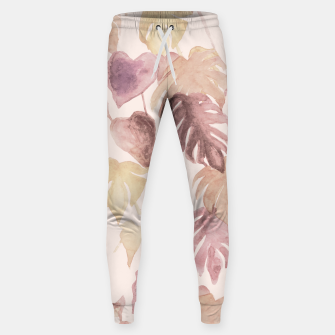 Thumbnail image of Retro blush watercolor botanicals Sweatpants, Live Heroes